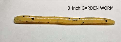 3 inch garden worm