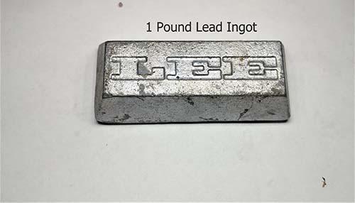 Lead Ingot 1 pound